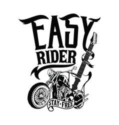 Freedom an easy rider vector