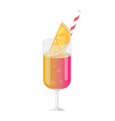 fresh cocktail template colorful poster vector image