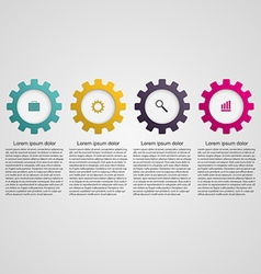Gears infographic design concept vector image