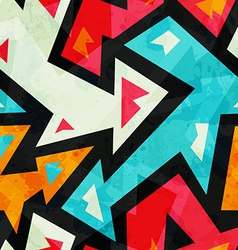 graffiti arrows seamless pattern with grunge vector image