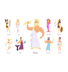 greek gods ancient religion greece history zeus vector image