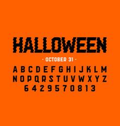 halloween style font design halloween theme vector image
