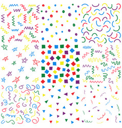 hand drawn doodle seamless patterns vector image