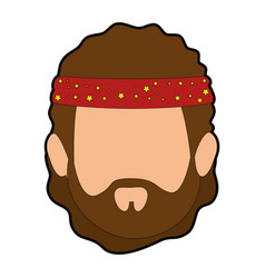Hippie man cartoon vector