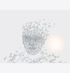 human made lines grey vector image
