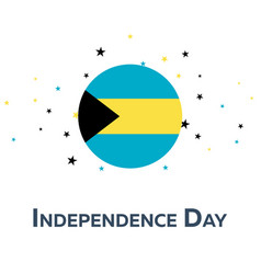 Independence day of bahamas patriotic banner vector