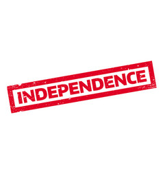 Independence rubber stamp vector
