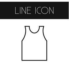 Isolated singlet outline shirt element can vector