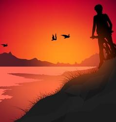 Lake scene vector image