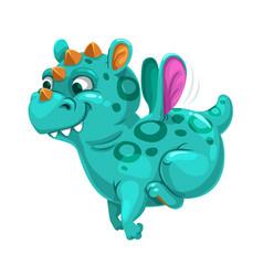 Little cute dragon fantasy animal funny cartoon vector