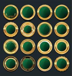 luxury golden design elements collection 7 vector image
