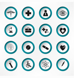 medical hospital and health care icons - icon set vector image