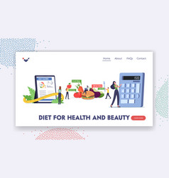 Mobile app calculator for nutrition and dieting vector