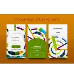 Mobile background ui vector image