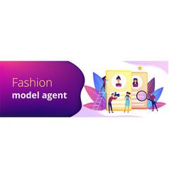 Modeling agency concept banner header vector