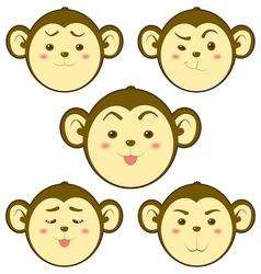 Monkey emotion vector image