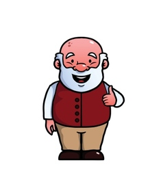 Old man giving thumbs up vector image