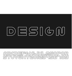 outline modern font trendy english contour vector image