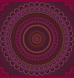 Psychedelic mandala fractal background - round vector