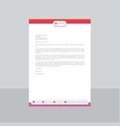 Retro rustic and pink letterhead with gradient vector