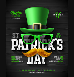 Saint patricks day feast of saint patrick party vector