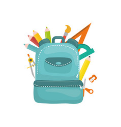 School backpack isolated vector