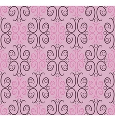 Seamless pattern ornamental wallpaper vector image