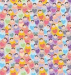 Seamless pattern pink purple orange blue Russian vector image