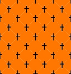 Seamless Texture with Crosses of Graves vector