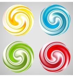 Set milk yogurt cream curl or lollipop vector
