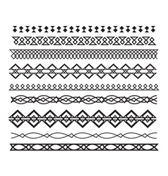 Set of borders and lines horizontal geometric vector