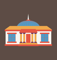 Silhouette of the government building vector