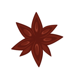 Simple brown flower vector