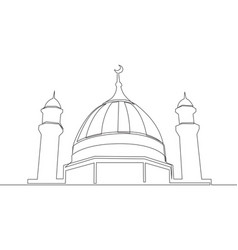 single continuous line drawing historical vector image