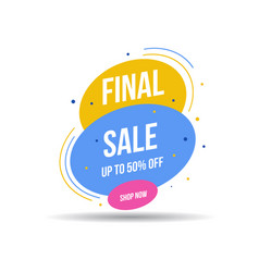 special offer final sale banner up to 50 off vector image