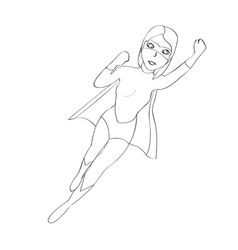 superwoman cartoon character sketch vector image