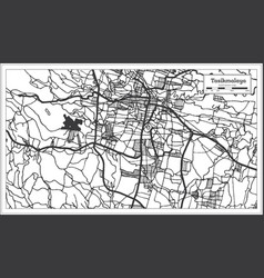 Tasikmalaya indonesia city map in black and white vector