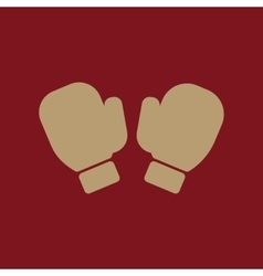 The boxing gloves icon Game symbol Flat vector