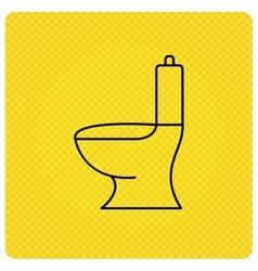 Toilet icon Public WC sign vector