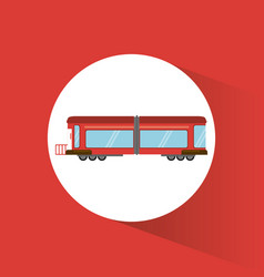 Train transport vehicle image vector