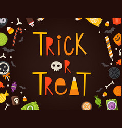 trick or treat card vector image