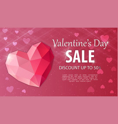 valentines day discount and price drop vector image