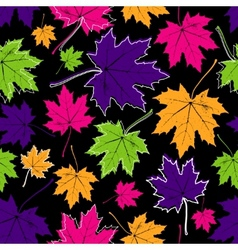 vintage floral autumn fall seamless pattern vector image