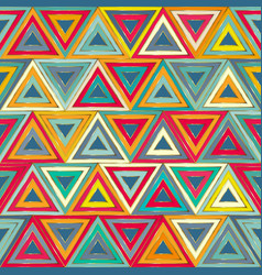 Watercolour triangle seamless pattern vector