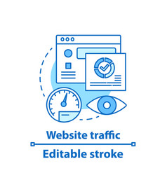website traffic concept icon vector image