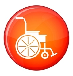 Wheelchair icon flat style vector