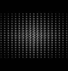 white asterisks on a black background vector image