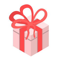 xmas gift box icon isometric style vector image