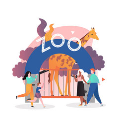 zoo concept for web banner website page vector image