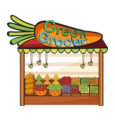 A green grocer shop vector image vector image